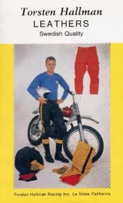 First USA brochure for Torsten  Hallman Racing pants